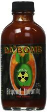 Da Bomb Beyond Insanity Hot Ones Wings Sauce Extreme Caution Spicy Extract, 4 oz
