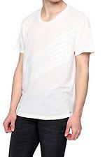Gestreifte Herren-T-Shirts aus Baumwollmischung mit Unifarben ohne Mehrstückpackung