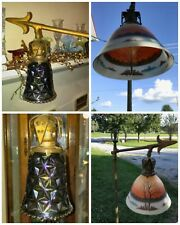 Handel Reverse Hand Painted Glass Brass Lamp Diamond Block Smoke Tree Claw Feet