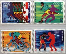 ETHIOPIA ÄTHIOPIEN 1972 716-19 630-33 Olympia Olympics Munich Soccer Boxing MNH