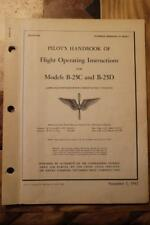 ORIGINAL 1942 B-25C & D MITCHELL BOMBER PILOTS FLIGHT MANUAL AIRCRAFT HANDBOOK