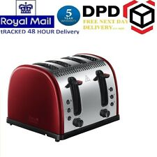 RUSSELL HOBBS Toaster Legacy 21301 4 Slice Defrost & Warming Function Red