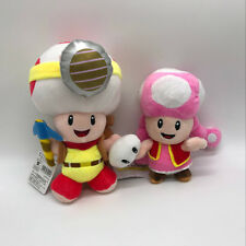 2X Super Mario Plush Soft Toy Captain Toad Toadette Stuffed Animal Doll 7""