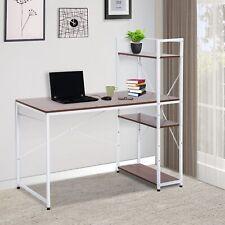 HOMCOM Schreibtisch Computertisch Bürotisch mit Regal Weiß