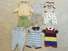 Baby Boy Cotton Outfit Shortall Pants Tops NB 0-3 Month Gymboree Disney Old Navy