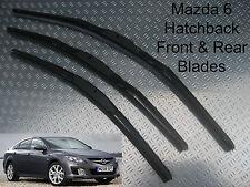 Front & Rear Wiper Blades Fits Mazda 6 Hatchback 2008 2009 2010 2011 2012 2.2D