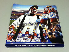 Miller beer sign bar signs 1 Lite Milwaukee Brewers baseball poster tacker VA3