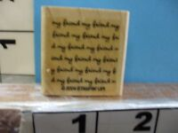 stampin up 2004 my friend saying background rubber stamp 5D