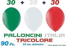 PALLONCINI ITALIA TRICOLORE 90 Pz. 23 cm. Diametro