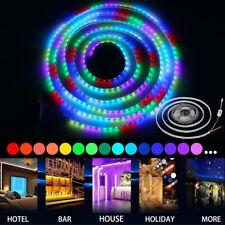10m LED RGB Lauflicht Strip 5050 Streifen IC wasserdicht Band Leiste wasserdicht