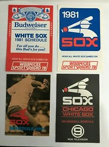 (4) 1981 Chicago White Sox Pocket Schedules
