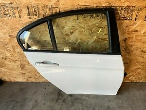 BMW F30 REAR RIGHT PASSENGER SIDE DOOR SHELL ASSEMBLY WHITE ALPINE 300 OEM 60K