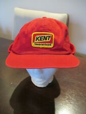 Vintage K Brand Kent Feed Farming Hat Snapback Red Patch Winter Ear Flaps