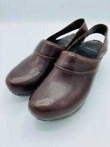 Dansko Slingback Dark Brown Clogs Size Size 40 US 9.5