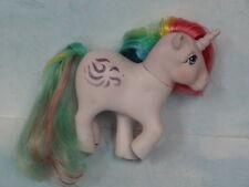 Vintage G1 My Little POny Unicorn Windy w/Rainbow tail & Mane Hasbro 1983