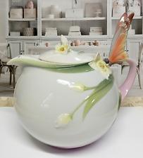 Franz Butterfly Tea Pot Papillon Porcelain Collection MINT Condition BEAUTIFUL!