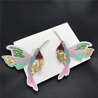 1 Paar Vögel Kolibris Aufnäher Bügelbilder Patches Patch Bügelflicken 18*14 Y0U7