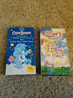 CARE BEARS Animated Cartoon VHS Videos/Movie II & Bedtime for Care a lot