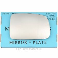 Right Driver side Wide Angle Wing door mirror glass for Honda HR-V 99-06 + plate