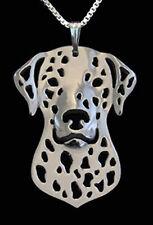 Dalmatian Dog Pendant Necklace Fashion Jewellery  Silver Plated