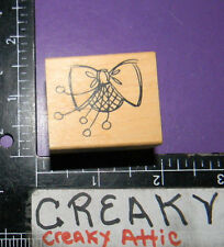 BOW HAT RUBBER STAMP HEATHER D-133HK