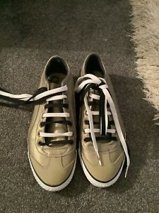 Mens Puma Bronze Lace Up Trainers/pumps Size 9 New Never Worn