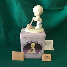 """New ListingPrecious Moments 1989 """"Pm-892"""" """"Mow Power To Ya!"""" New In Box With Tags-Mint"""