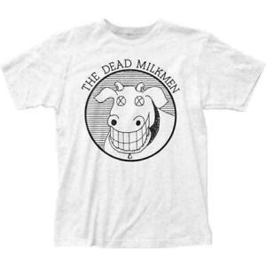 The Dead Milkmen Cow T Shirt Mens Licensed Rock N Roll Music Band Tee New White