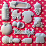 Edible BABY BOY GIRL SHOWER CHRISTENING Cake Decorations Fondant Cupcake Toppers