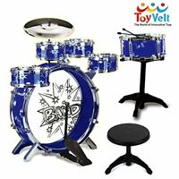 12 Piece Kids Jazz Drum Set – 6 Drums, Cymbal, C