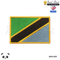TANZANIA National Flag Embroidered Iron On Sew On Patch Badge For Clothes etc