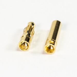 Bullet Banana 4mm 4.0mm RC Connectors Plug Socket Male Female Gold Plated UK