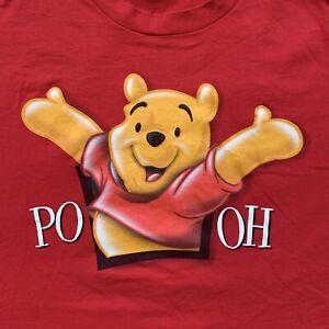 VTG 90s Disney Catalog Winnie the Pooh Double Side Cartoon T Shirt Red Size XXL