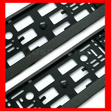 2x CHECKERED EFFECT Registration Number Plate Surround Holder Frame for Saab Car