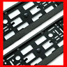 2 x CHECKERED Number Plate Surround Holder Frame for any Audi Car Tuning