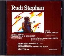 Rudi STEPHAN Liebeszauber FISCHER-DIESKAU ZENDER CD Music for Violin & Orchestra