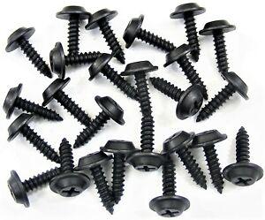 """Jeep Black Trim Screws- #8 x 5/8"""" Flat Top- 1/2"""" Washer Head- 25 screws- #200"""