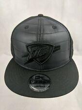 Oklahoma City Thunder New Era Black 9Fifty Quilted Snapback Osfm Hat - Brand New
