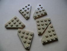 Lego 6 triangles beiges set 31010 2254 7569 / 6 tan cut corner plate