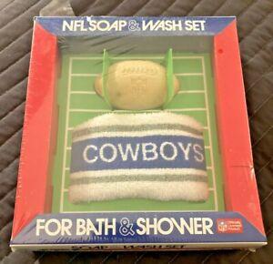 Brooks Industries Dallas Cowboys NFL Soap & Wash Set NOS Super Rare Sealed