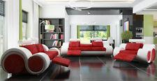 Sofagarnitur Polster Sofa Couch Leder Garnitur Wohnlandschaft 3+2+1 Textil BER