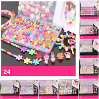 Toy Beads For Kid Girls Making Necklace Bracelet Training Educational Materials