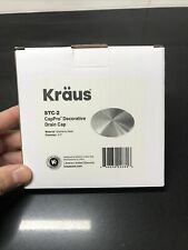 Kraus Stc-2 Stainless Steel Kitchen Sink Strainer Drain Cover Only Never Used