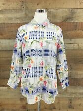 Tommy Bahama Pendleton Aloha Linen Hawaiian Shirt Sz Large