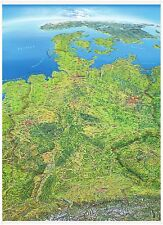 Panoramic Map Germany with Perform Vertical Format 39x53 1/2in 150051b