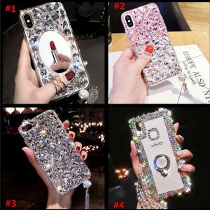 Women Glitter Luxury Bling Diamonds Phone Case for Motorola Moto G7 G8 G9 Plus