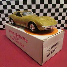 1972 Chevrolet Corvette,1/25 scale,Dealership promotional model,War Bonnet Gold