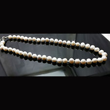 """Women's Gift-Fresh Water Pearl Necklace, 8mm - 16""""~18""""L approximately"""