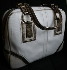 NWT Coach SOHO Large Business Travel Carryon IVORY/GOLD Satchel Tote Bag Purse