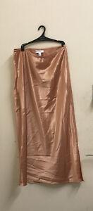 EX Topshop Satin Slip Skirt Size UK10 EUR 39 {Z68}